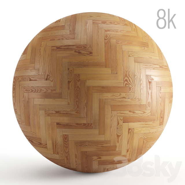 Seamless texture of solid wood parquet. PBR 8k