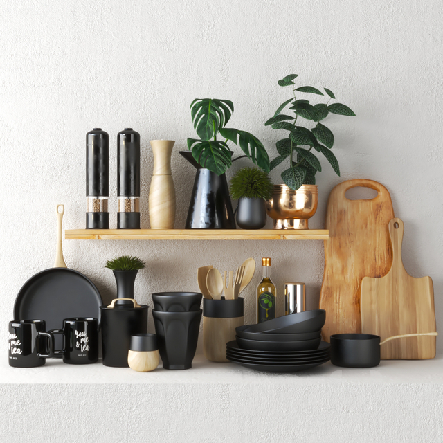 set609 -black kitchen set