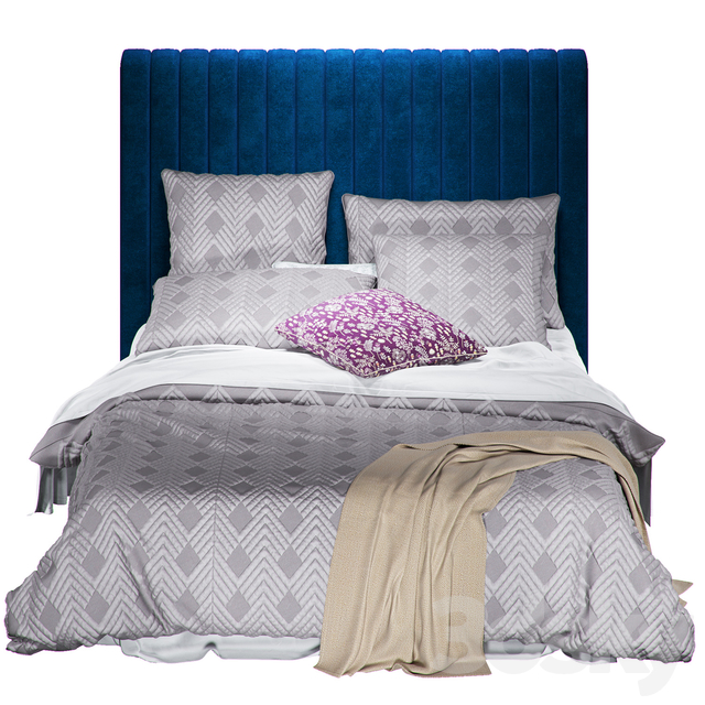 Home Republic Soho Quilted Ash Quilt Cover