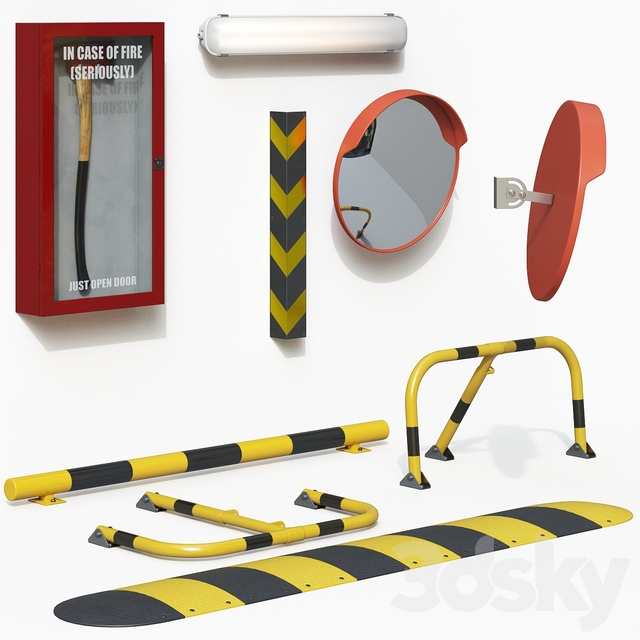 Parking equipment set