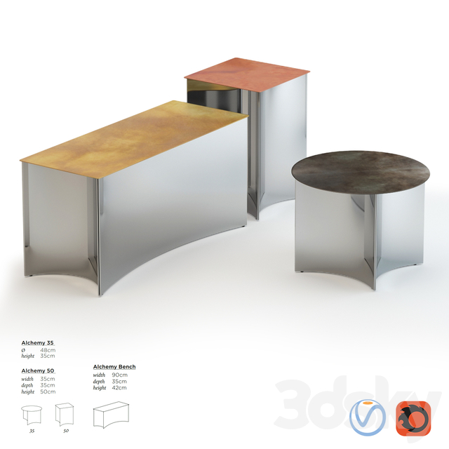 De Castelli Alchemy Side Table