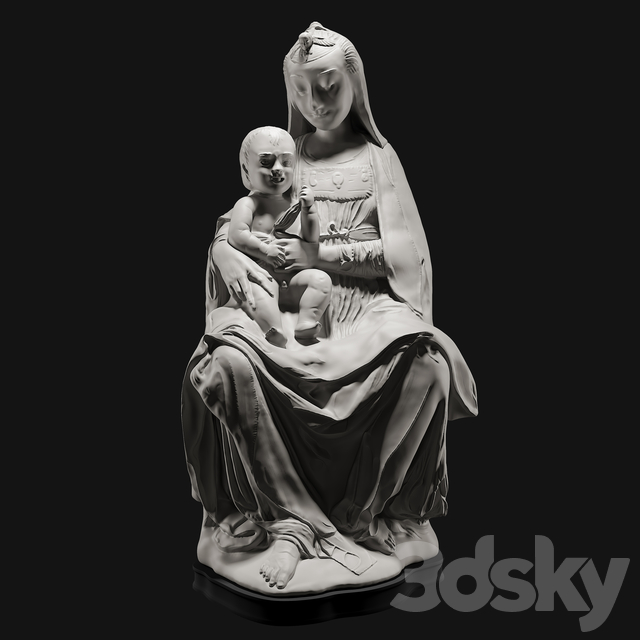 The virgin with the laughing child