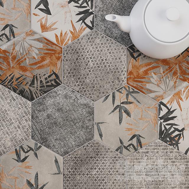 CIR Miami Esagona Florida Gray Tile Set