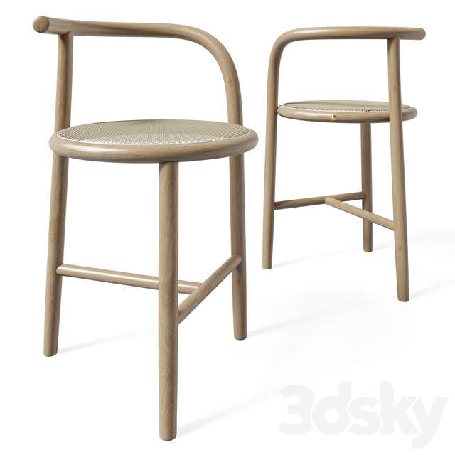 Single Curve Dining Table and Stool