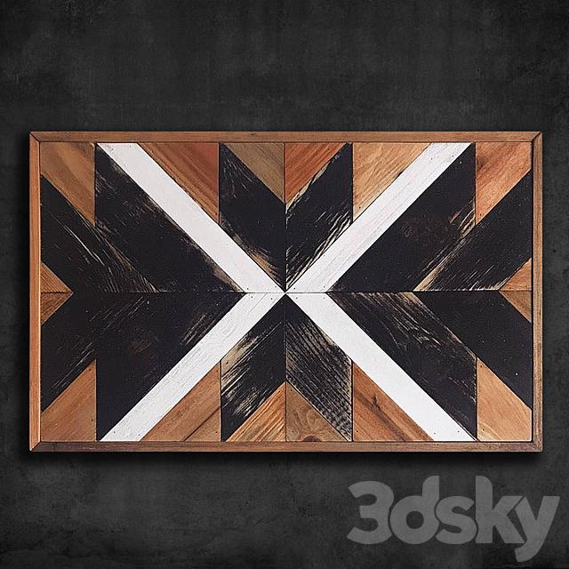 Wooden panel 96