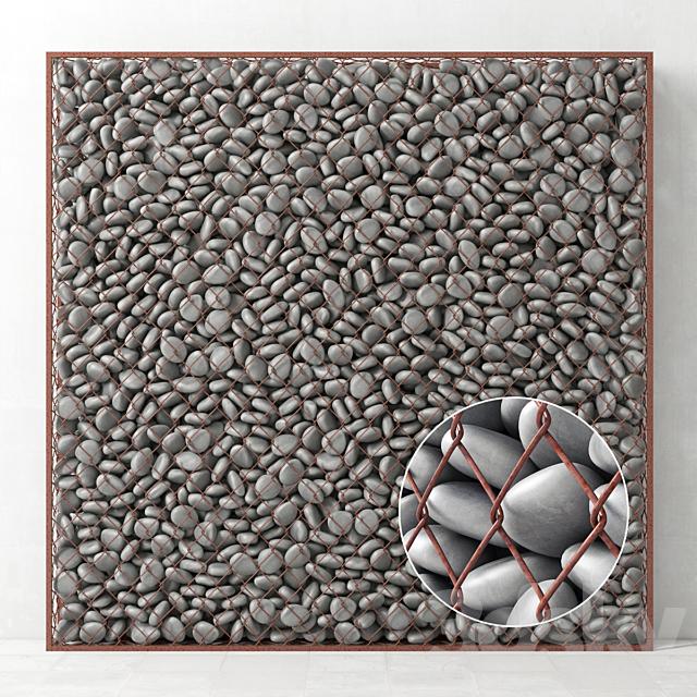 Gabion big gray pebble / Gabion big gray pebble