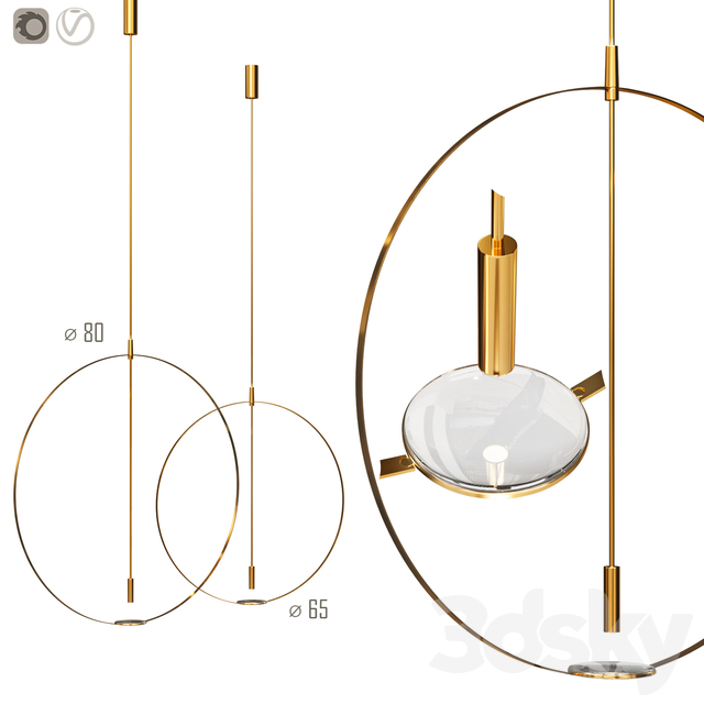 Giustini and Stagetti MAGNIFIER CEILING LAMP by Formafantasma