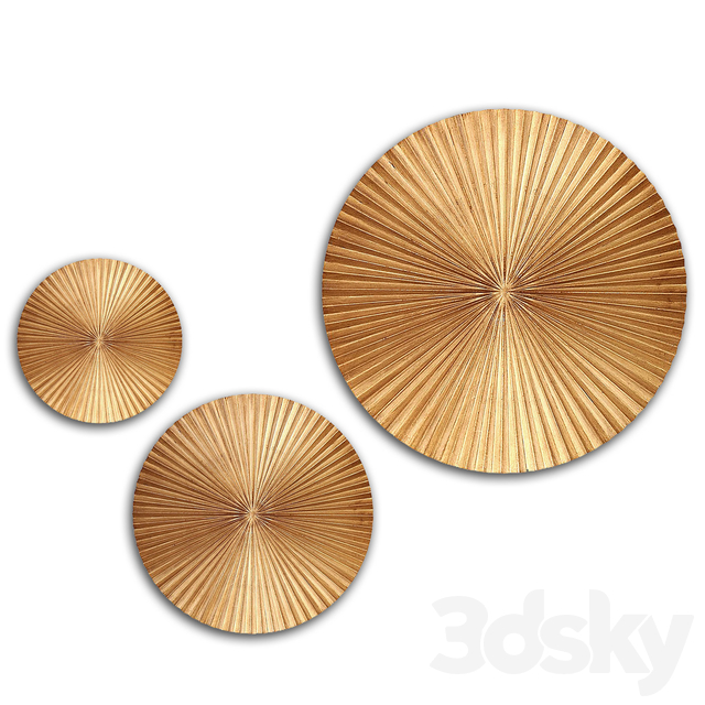 Willa Arlo Interiors - Circular Gold Wall Decor