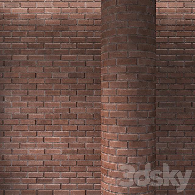 Brick red masonry