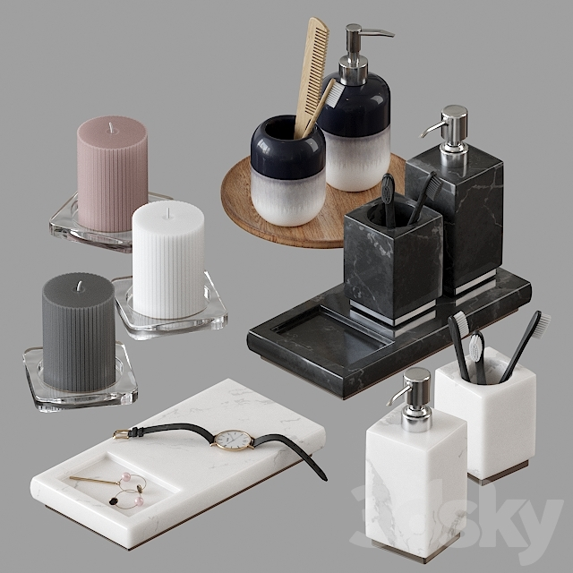 H&M decorative bath set