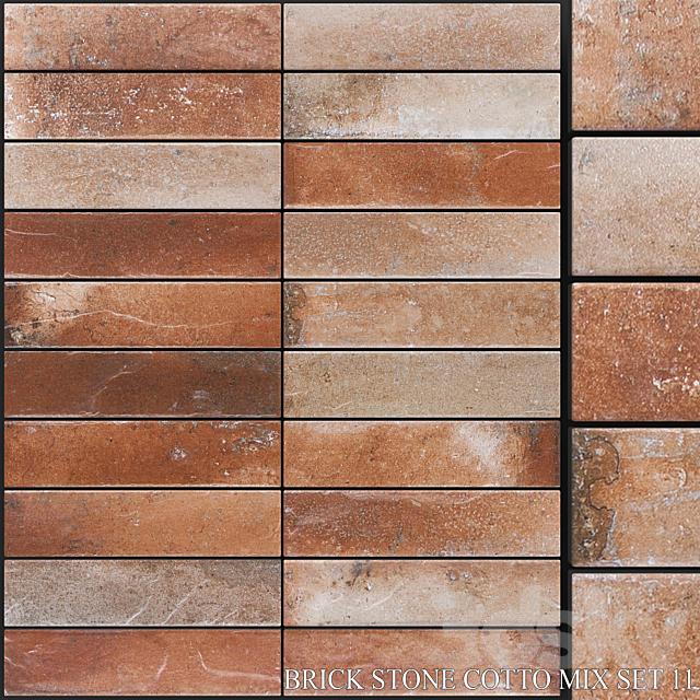 Yurtbay Seramik Brick Stone Cotto Mix Set 11