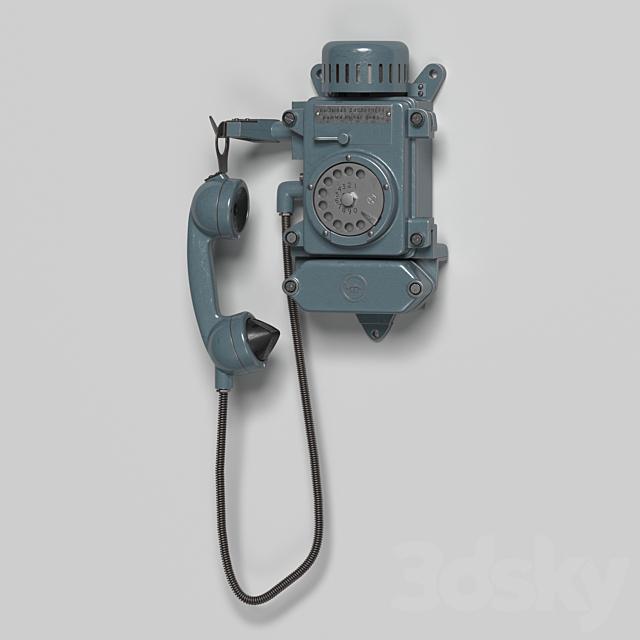 Mine wall phone