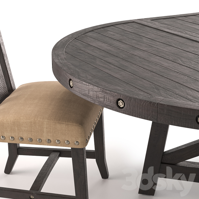Jaxon Extension Round Dining Table and Wood Chairs