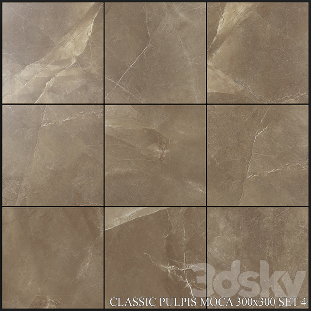 Yurtbay Seramik Classic Pulpis Moca 300x300 Set 4