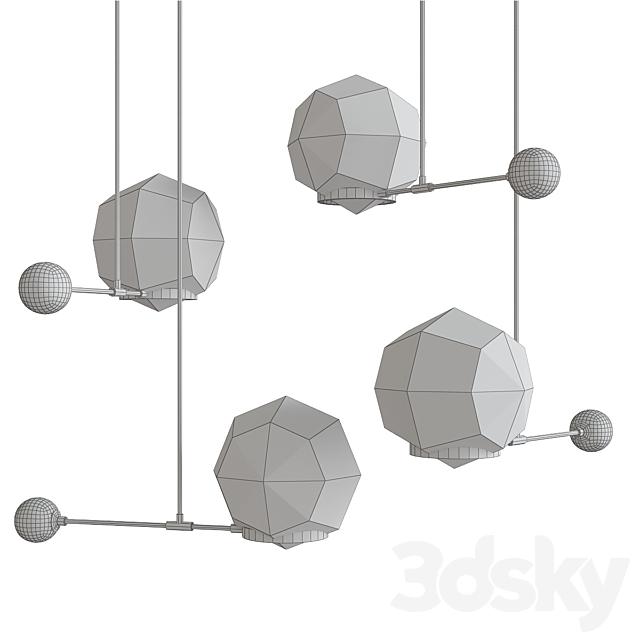 O&G Contrapesso 8 inch Globe Led Pendan