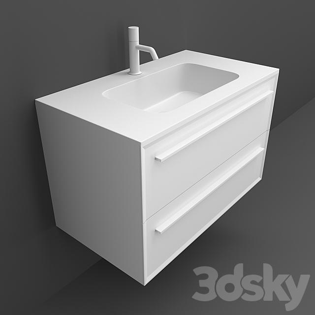 Washbasins Falper 7 metrica roundlux h1