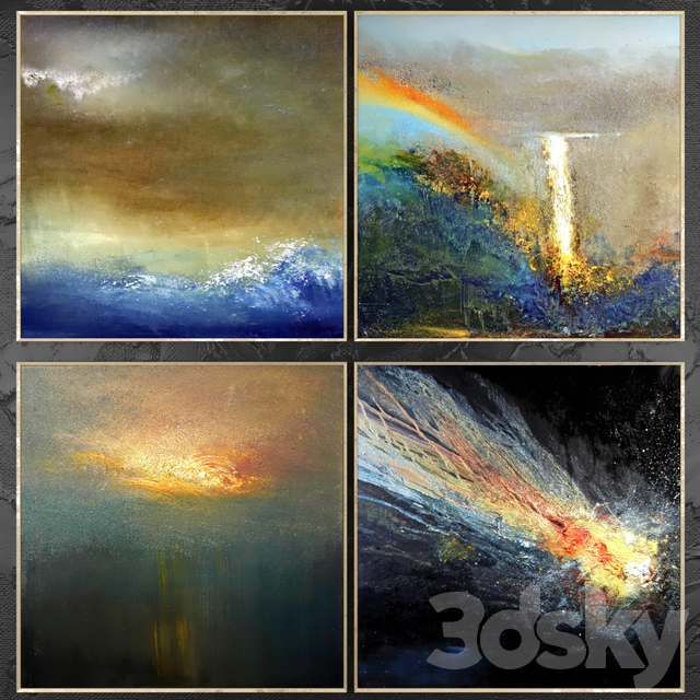 Paintings abstract | set 437