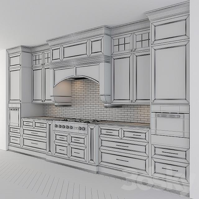 Classic kitchen dark