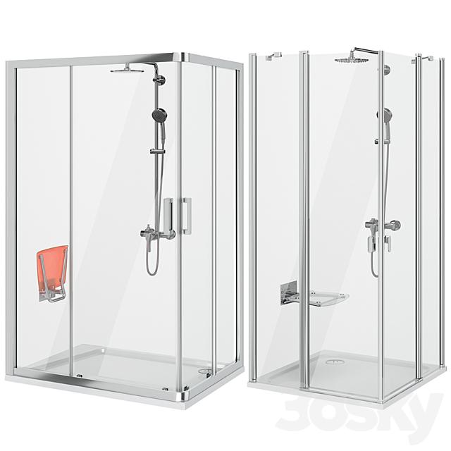 Set of shower cabins Ravak set 65