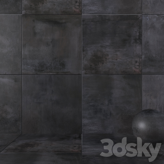 Wall tiles 353 Blaze Iron