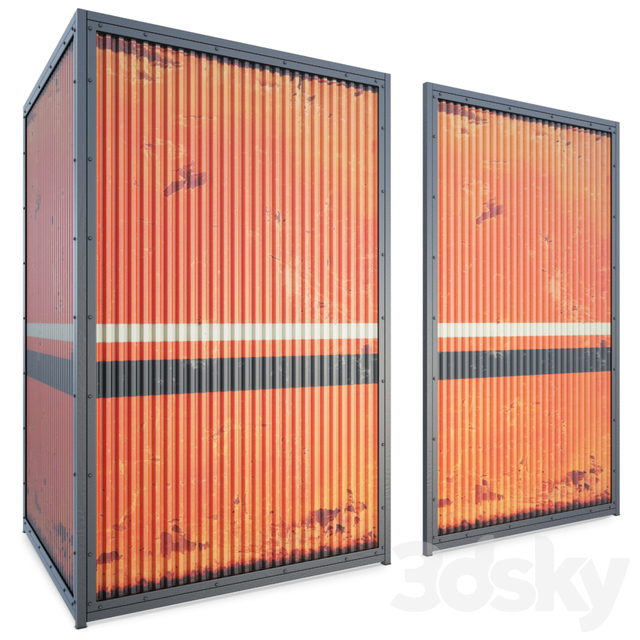 Container Rusted Panel