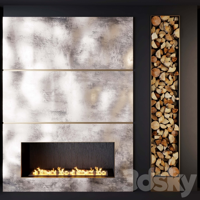 Fireplace and firewood 1