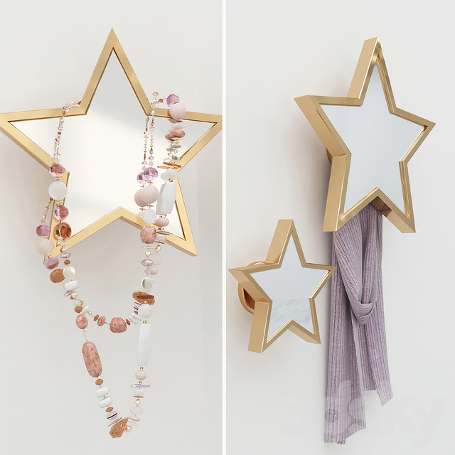 Hook stars with mirror