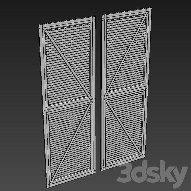 Rustic Iron and Wood Barn Interior Door