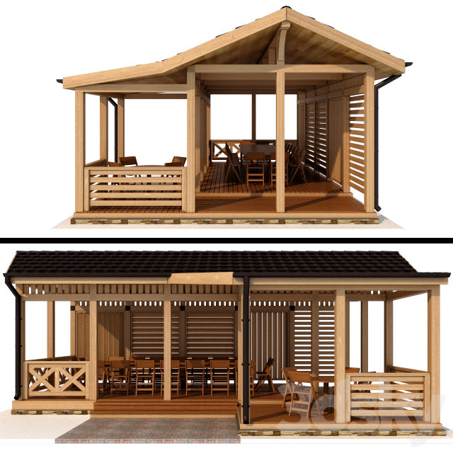 Arbor in a modern style