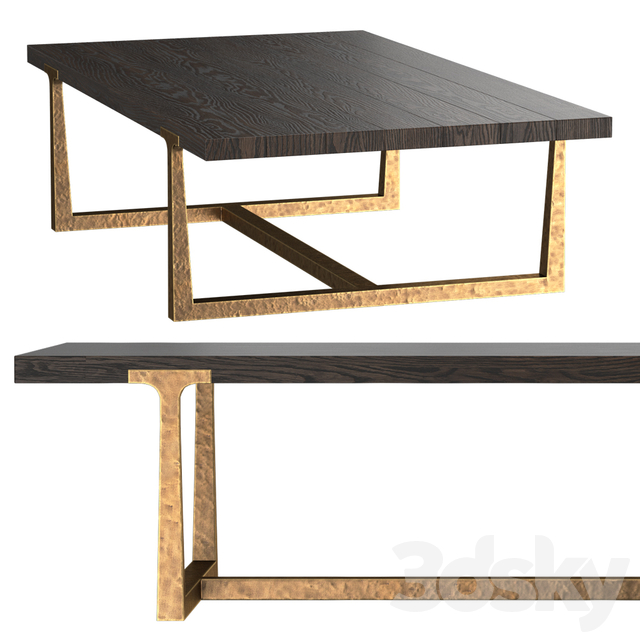 T-BRACE RECTANGULAR COFFEE TABLE
