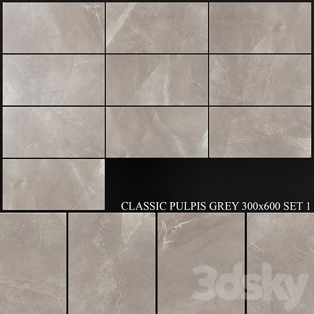 Yurtbay Seramik Classic Pulpis Gray 300x600 Set 1