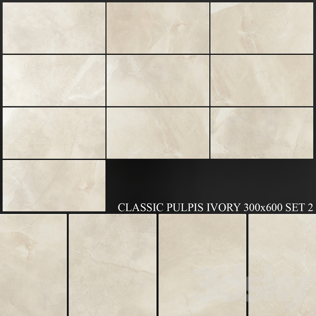 Yurtbay Seramik Classic Pulpis Ivory 300x600 Set 2