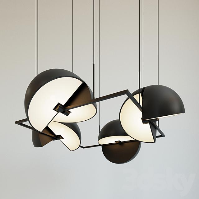 Pendant lamp Trapeze Quartette by oblure