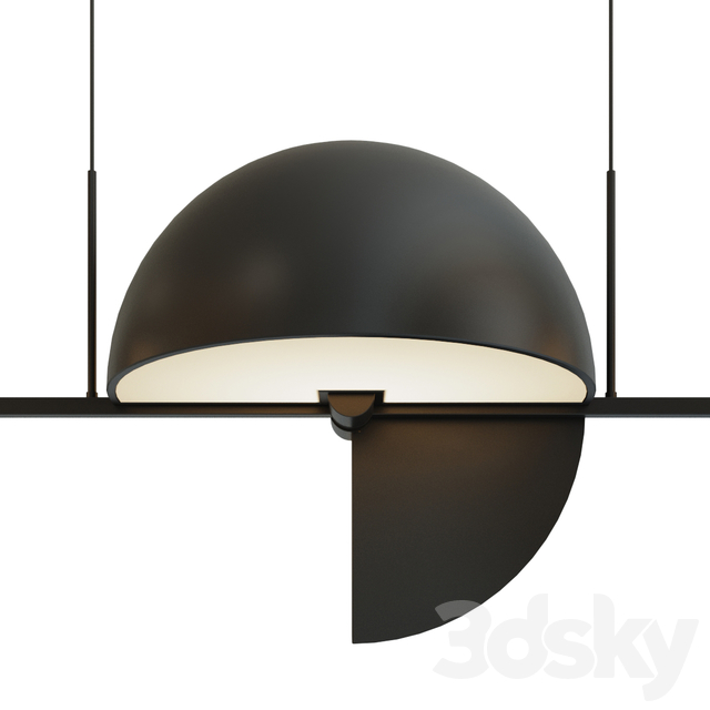Pendant lamp Trapeze Triplette by oblure