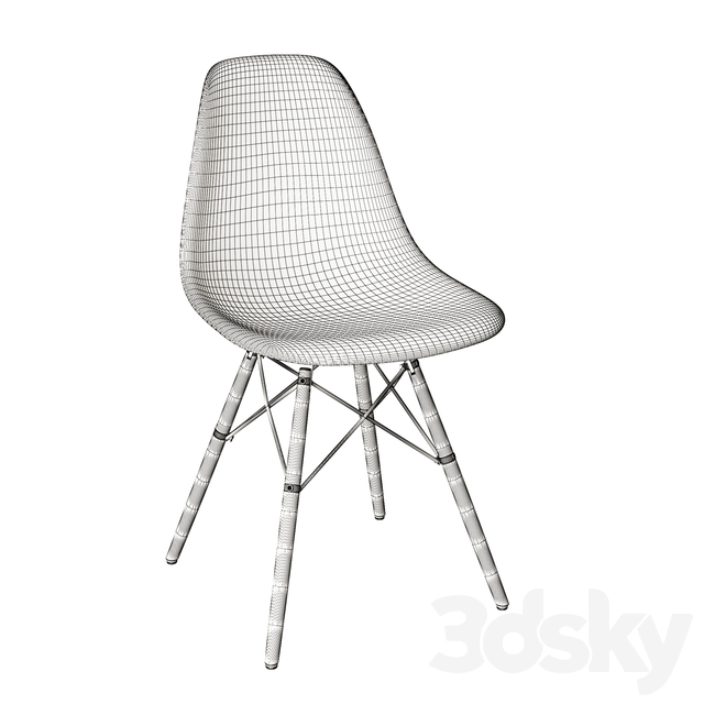Eames plastic side chair