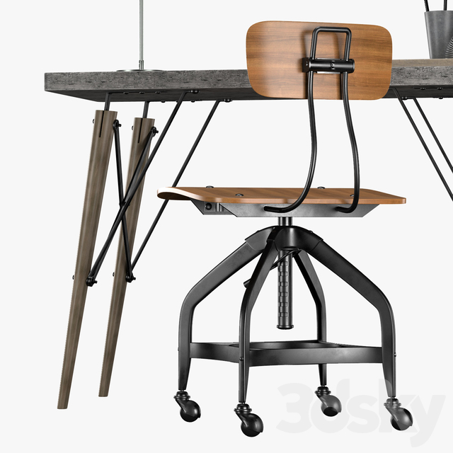 TRISTAN INDUSTRIAL METAL DESK