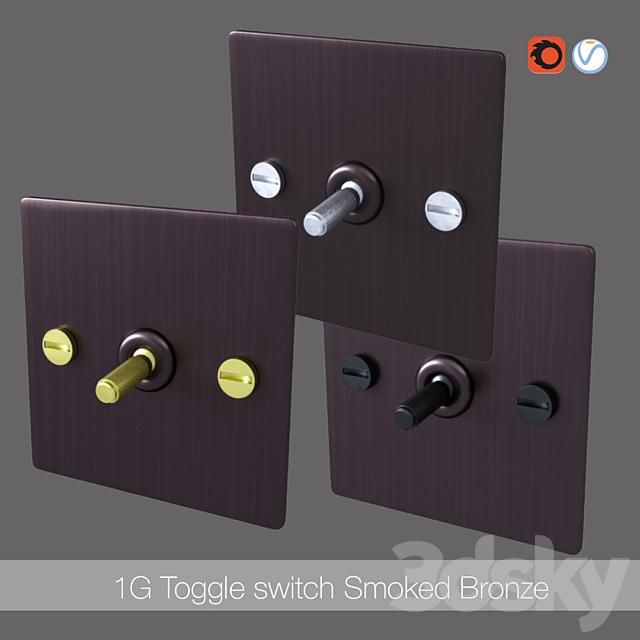 1G Toggle switch smoked bronze