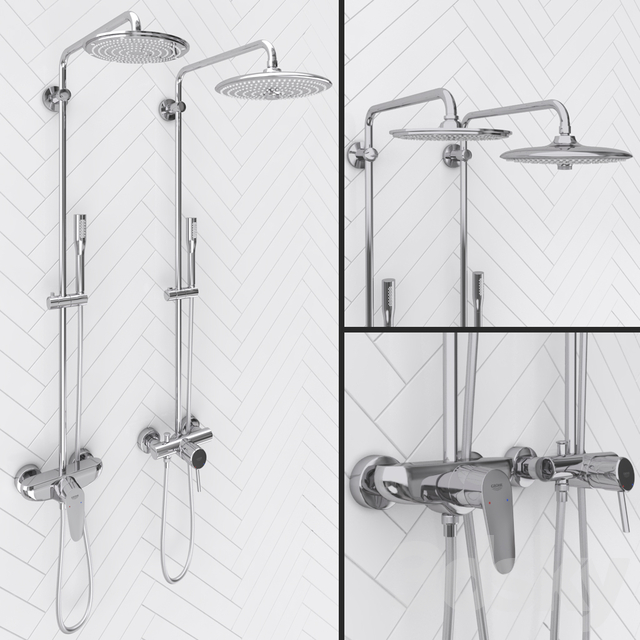 Shower systems GROHE EUPHORIA | Concetto and Eurodisc