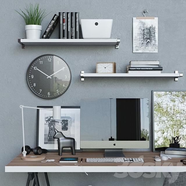 Workplace desk ikea LINNMON / ODWALD 2