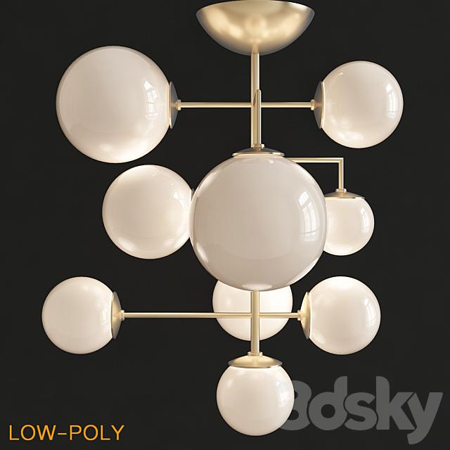Artemis frosted chandelier