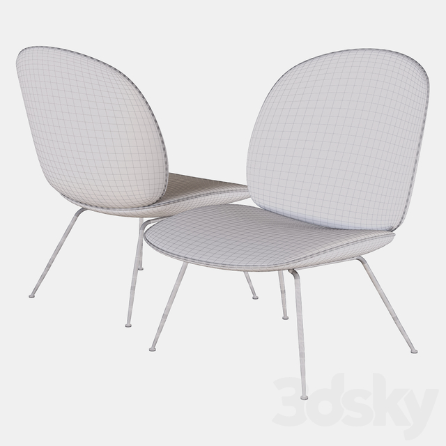 beetle lounge chair gubi