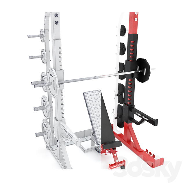 HALF RACK_ Hammer strength