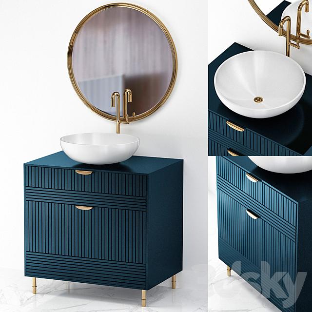Dark Blue Small Bathroom, Small Bathroom Furniture