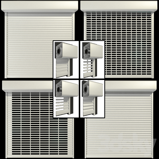 Roll shutter systems