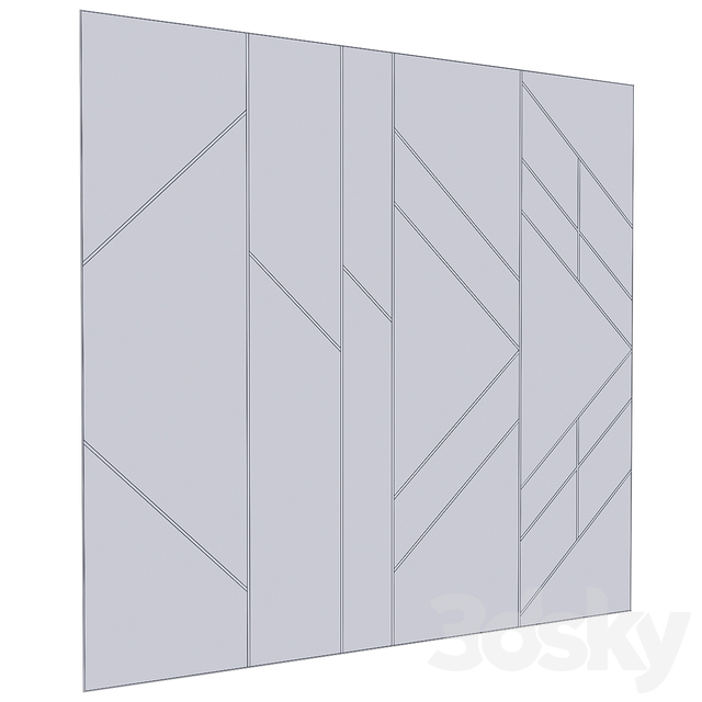 Decorative wall panel 09
