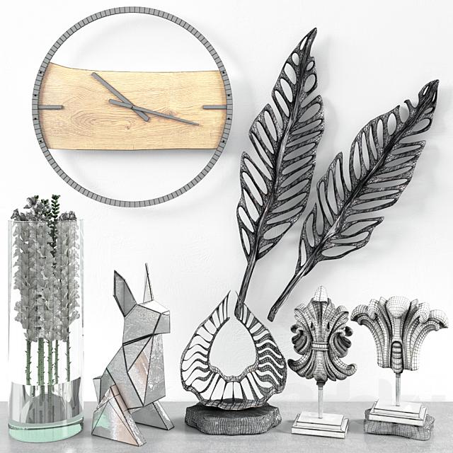 Decor with a clock for a loft