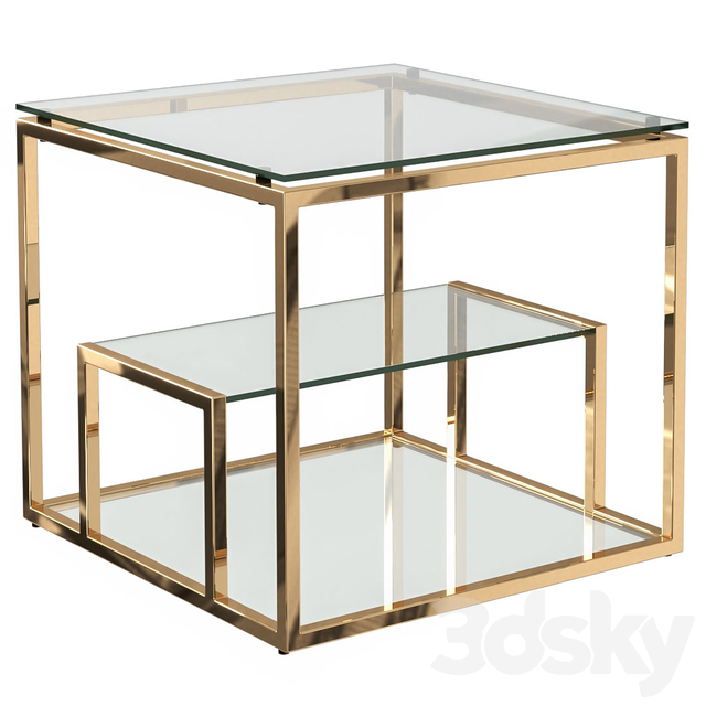 Coffee table with glass top (chrome, gold) GY-ET8005, GY-ET8005GOLD Garda Decor