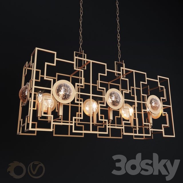 Hanging chandelier Crystal Lux Cuento SP8 L900 Gold