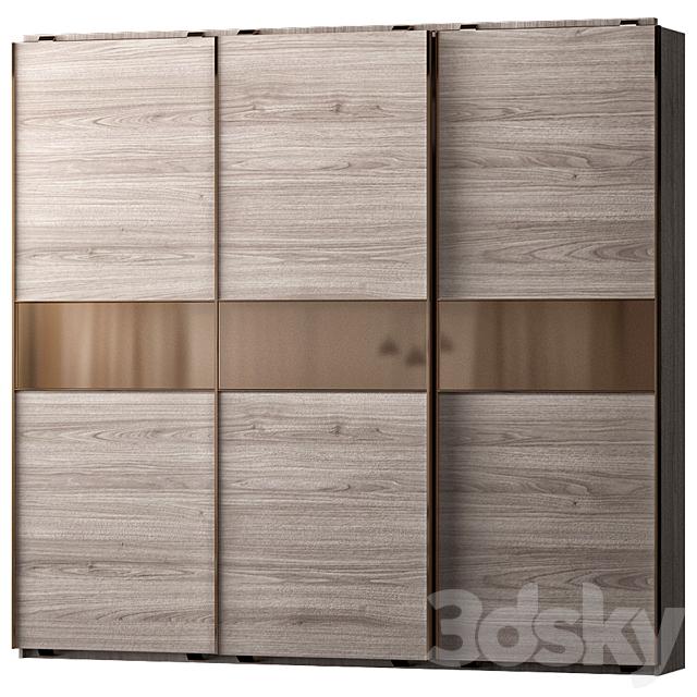Guardaroba Tre Ante Scorrevoli.3d Models Wardrobe Display Cabinets Armadio Scorrevole 3 Ante