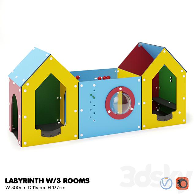 KOMPAN. LABYRINTH WITH 3 ROOMS